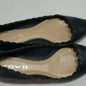 Coach Black Studded Flats